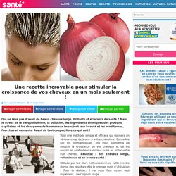Une recette incroyable pour stimuler la croissance de vos cheveux en un mois seulement !