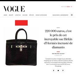 220 000 euros, c'est le prix de cet incroyable sac Birkin d'Hermès incrusté de diamants