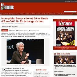 Incroyable: Bercy a donné 20 milliards d'€ au CAC 40. En échange