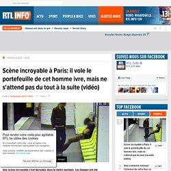 Scène incroyable à Paris: il vole le portefeuille de cet homme ivre, mais ne s'attend pas du tout à la suite (vidéo) - RTL People