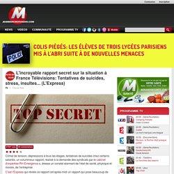 L'incroyable rapport secret sur la situation à France Télévisions: Tentatives de suicides, stress, insultes... (L'Express)