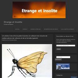 Un artiste Crée d'incroyable insectes en utilisant rien d'autre de vieilles pièces de voitures et de la ferraille (galerie)