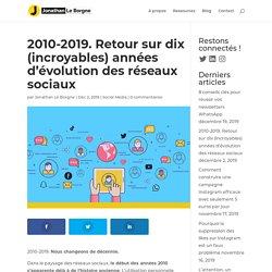 2010-2019. Retour sur dix (incroyables) années d'évolution des réseaux sociaux - Jonathan Le Borgne
