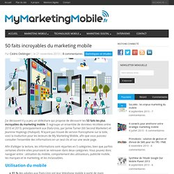 50 faits incroyables du marketing mobile