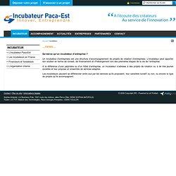 Incubateur / Accueil - Incubateur Paca-Est