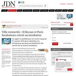 Ville connectée : JCDecaux et Paris Incubateurs créent un incubateur