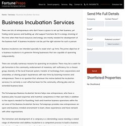Best Business Incubation Services in Bangalore