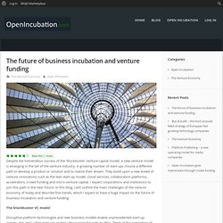 The future of business incubation and venture funding – OpenIncubation.com