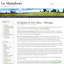 Inculpation de Peter Hartz - Allemagne