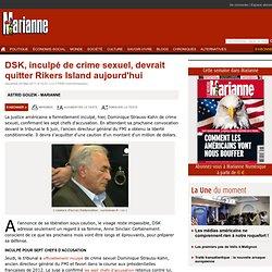 DSK, inculpé de crime sexuel, devrait quitter Rikers Island aujourd'hui
