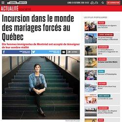 Incursion dans le monde des mariages forcés au Québec