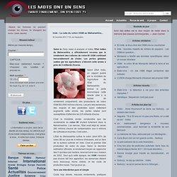 LES MOTS ONT UN SENS 29/11/12 Inde : La cata du coton OGM au Maharashtra...
