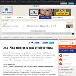 Inde : Une croissance sans développement