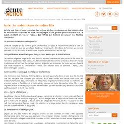 Inde : la malédiction de naître fille