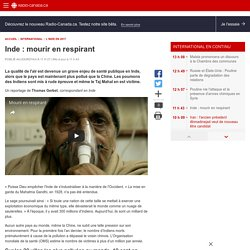 Inde : mourir enrespirant
