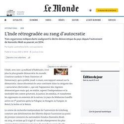 L'Inde rétrogradée au rang d'autocratie