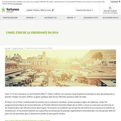 L'Inde, star de la croissance en 2016 - Fortuneo