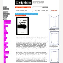 The Indefinable Nature of Graphic Design