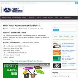 Present Indefinite Tense (Simple, Negative & Interrogative) Lesson 02