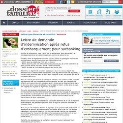 Lettre de demande d'indemnisation aprés refus d'embarquement pour surbooking