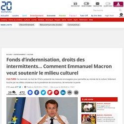Fonds d'indemnisation, droits des intermittents… Comment Emmanuel Macron veut soutenir le milieu culturel...