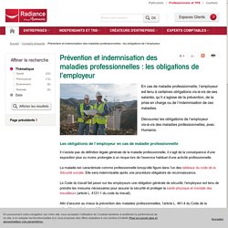 Prévention et indemnisation des maladies professionnelles : les obligations de l'employeur – Humanis