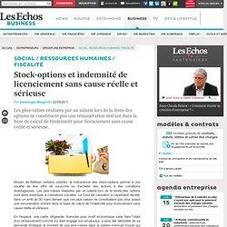 Stock-options et indemnité de licenciement sans cause réelle et sérieuse