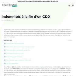 Indemnités à la fin d'un CDD