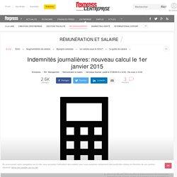 Indemnités journalières: nouveau calcul le 1er janvier 2015