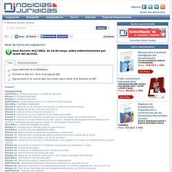 Real Decreto 462/2002, de 24 de mayo, sobre indemnizaciones por razón del servicio.