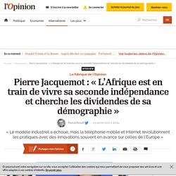 Pierre Jacquemot: «L'Afrique est en train de vivre sa seconde indépendance et cherche les dividendes de sa démographie»