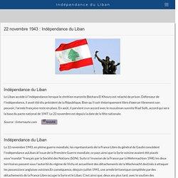Indépendance du Liban