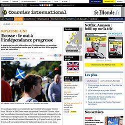 Ecosse: le oui à l'indépendance progresse