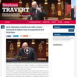 Liberté, indépendance et pluralisme des médias: retrouvez l'intervention de Stéphane Travert sur la proposition de loi de Patrick Bloche