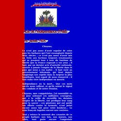 01/01/1804 Acte de l'Independance de la Republique d'Haiti