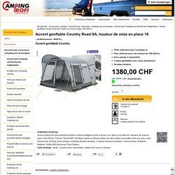 Auvent gonflable Country Road SA, hauteur de mise en place 180-220cm (#900018) - Auvent pour Camping-car/Van/Auvent indépendant - Auvents pour caravanes, camping-cars et fourgons - Accessoires camping - Campingprofi Donada & Witzig AG (FR)