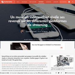 Un musicien indépendant révèle ses revenus sur les différentes plateformes de streaming - Business