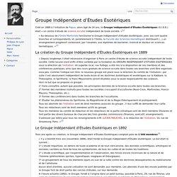 Groupe Indépendant d'Études Ésotériques