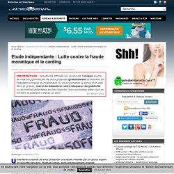 Etude indépendante : Lutte contre la fraude monétique