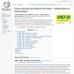 UNEF Union Nationale desÉtudiants deFrance