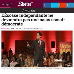 L'Écosse indépendante ne deviendra pas une oasis social-démocrate