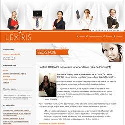 Laetitia BOHAIN, secrétaire indépendante près de Dijon (21) - Lexiris