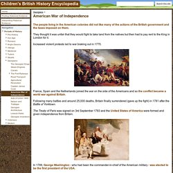 American War of Independence - Children's British History Encyclopedia