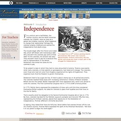 Freedom: A History of US. Webisode 1: Independence. Introduction
