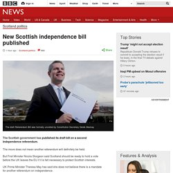 New Scottish independence bill published