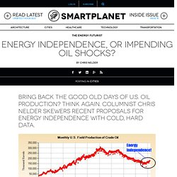 Energy independence, or impending oil shocks?