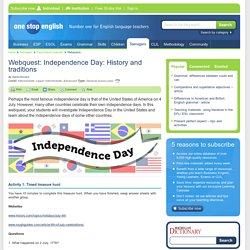 Webquest: Independence Day: History and traditions