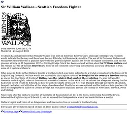Scots Independence Tour -Sir William Wallace