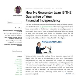 No Guarantor Loan from Direct Lenders without Fees in the UK