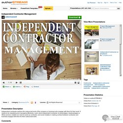 Independent Contractor Management